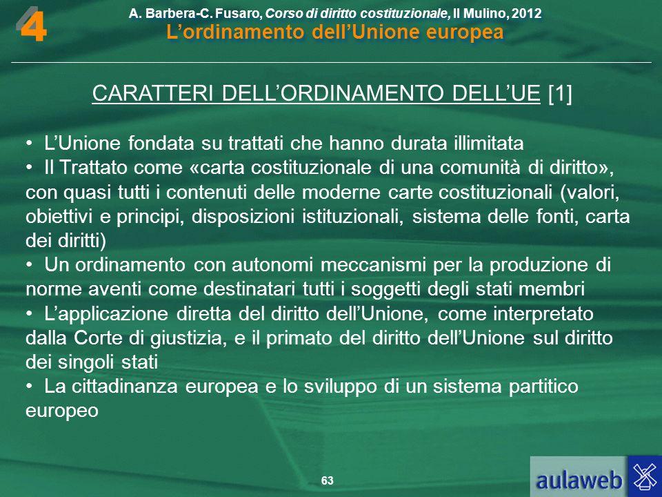 CARATTERI DELL'ORDINAMENTO DELL'UE [1]